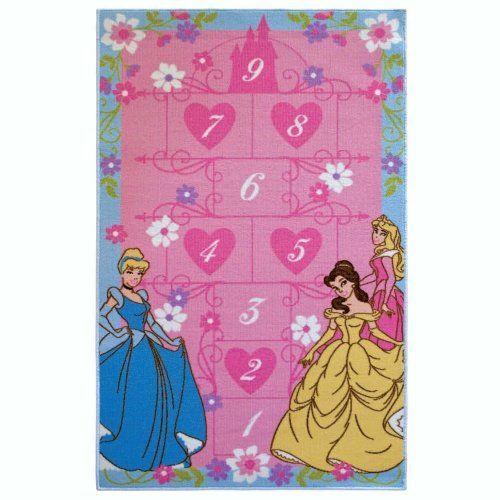 Homelegend Drprg34 Disney Princess Hopscotch 3 Foot By 4 Nylon Activity Rug