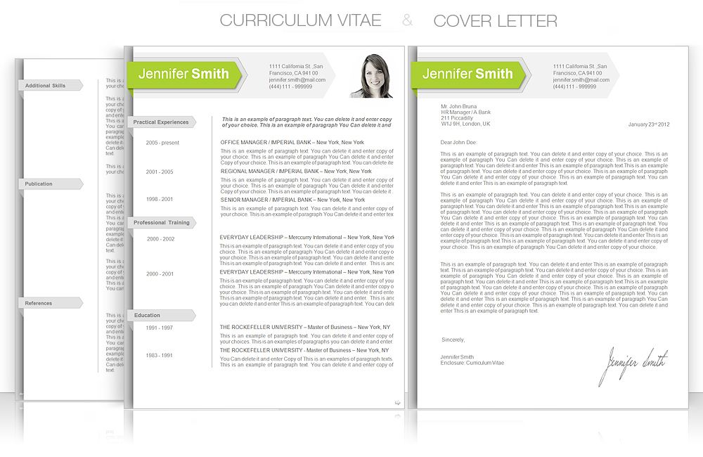CV Template u2022 CV Template Package Includes Professional layout - microsoft word professional letter template