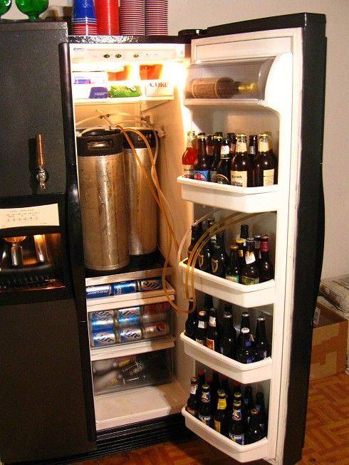 Nice Kegerator With Jagerator On Freezer Side Kegerator Kegerator Conversion Kegerator Diy
