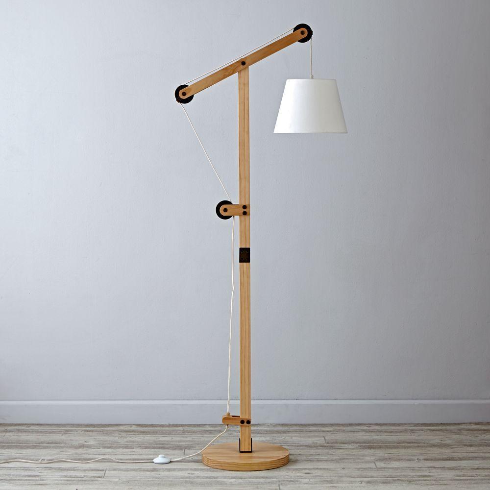 Pulley Floor Lamp Pulley Floor Lamp Diy Floor Lamp Floor Lamp