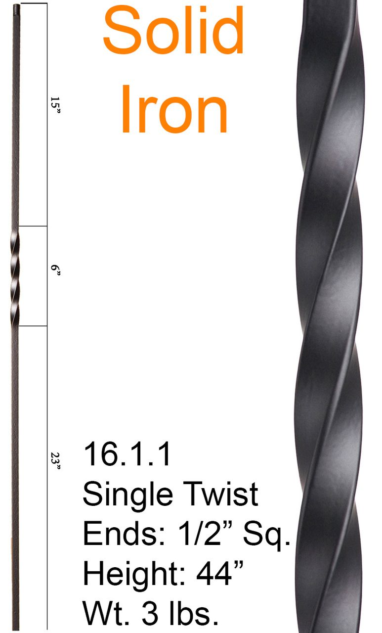 Cheap stair parts 16 1 1 single twist 6 11 http cheapstairparts com 16 1 1 single twist