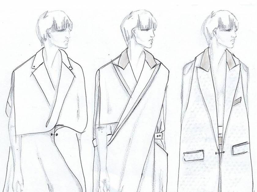 Fashion Sketchbook - fashion design sketches for minimal tailored collection; fashion portfolio // Mehrzad Hemati