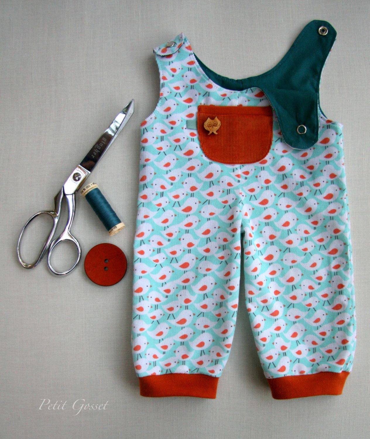 Doll Overalls  PDF Sewing Pattern and Tutorial by door PetitGosset, $10,80