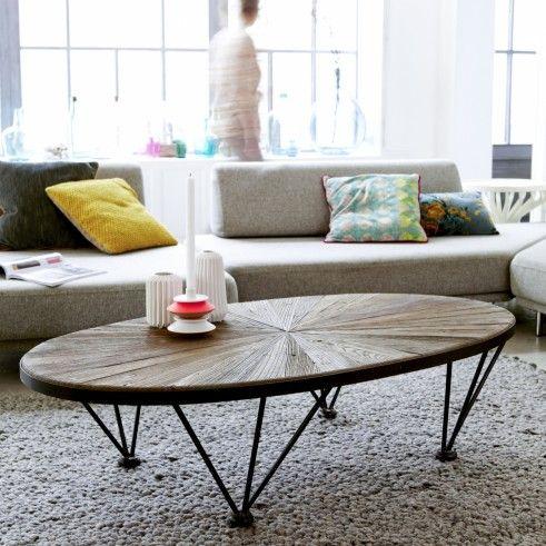 Elm And Metal Coffee Table Lancelot Living Room Tables 140x80 Coffee Table Living Room Table Metal Coffee Table