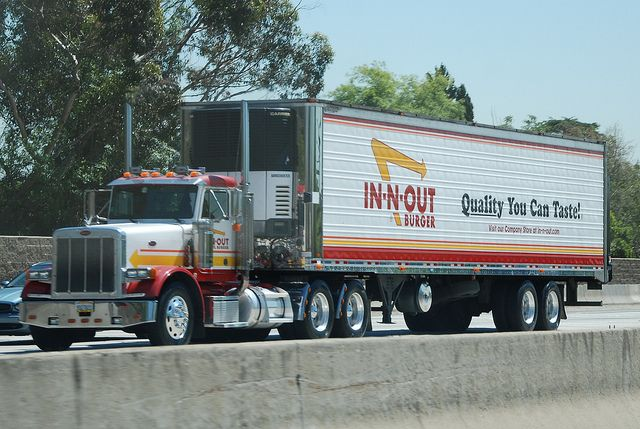 In N Out Burger Peterbilt Big Rig Truck 18 Wheeler By