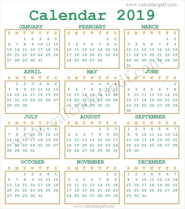 2019 Calendar India | Indian Calendar 2019 | 2019 calendar