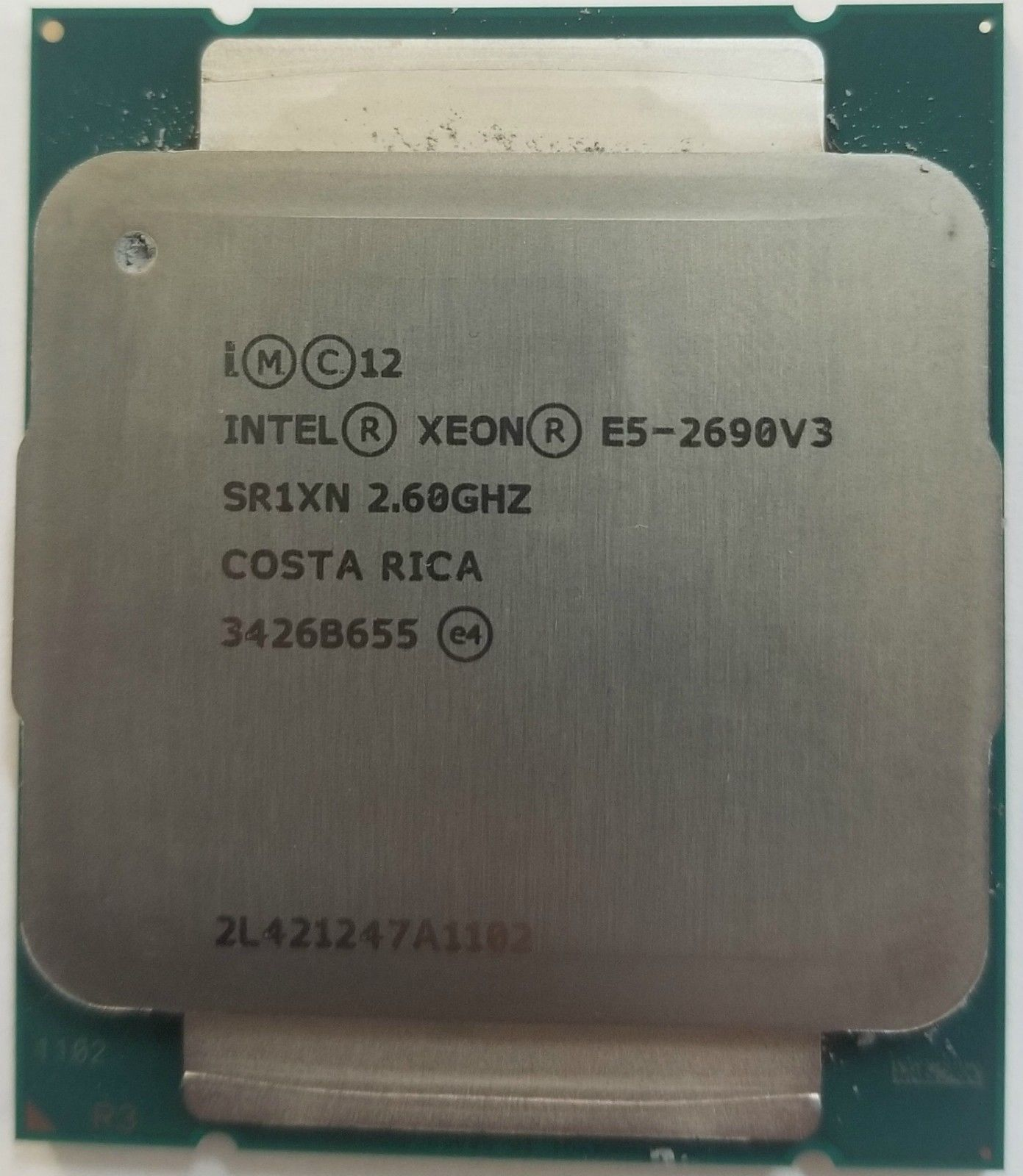 GENUINE INTEL XEON E5 2690V3 SR1XN 26GHZ CPU PROCESSOR TESTED
