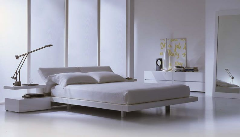 Delightful White Crisp Modern Bed These 40 Modern Beds Will Have You Daydreaming Of  Bedtime