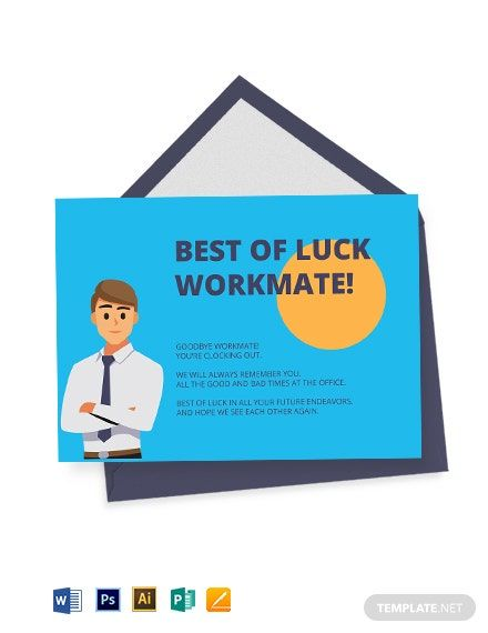 employee farewell card template in 2020  business card