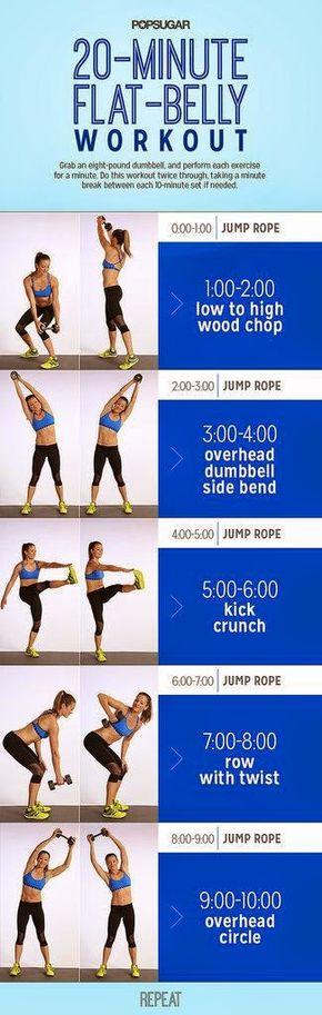 From heart to health: 30 minute flat belly workout / Ejercicio de 30 minutos para abdomen flácido