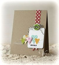 Polka dots with kraft paper - love this!