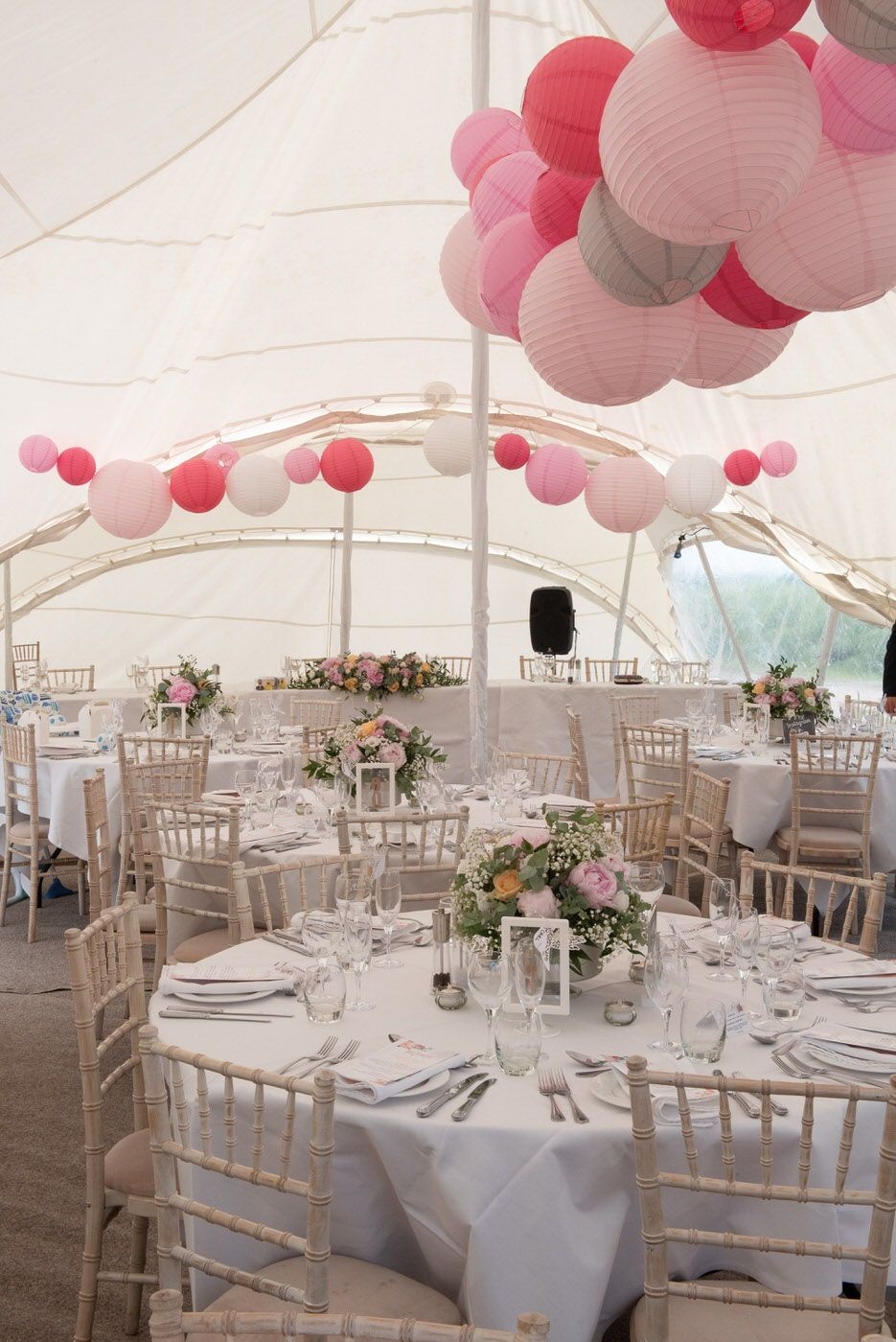 Wedding marquee decoration ideas  A Country Marquee wedding with budget decoration Photo by Chanon