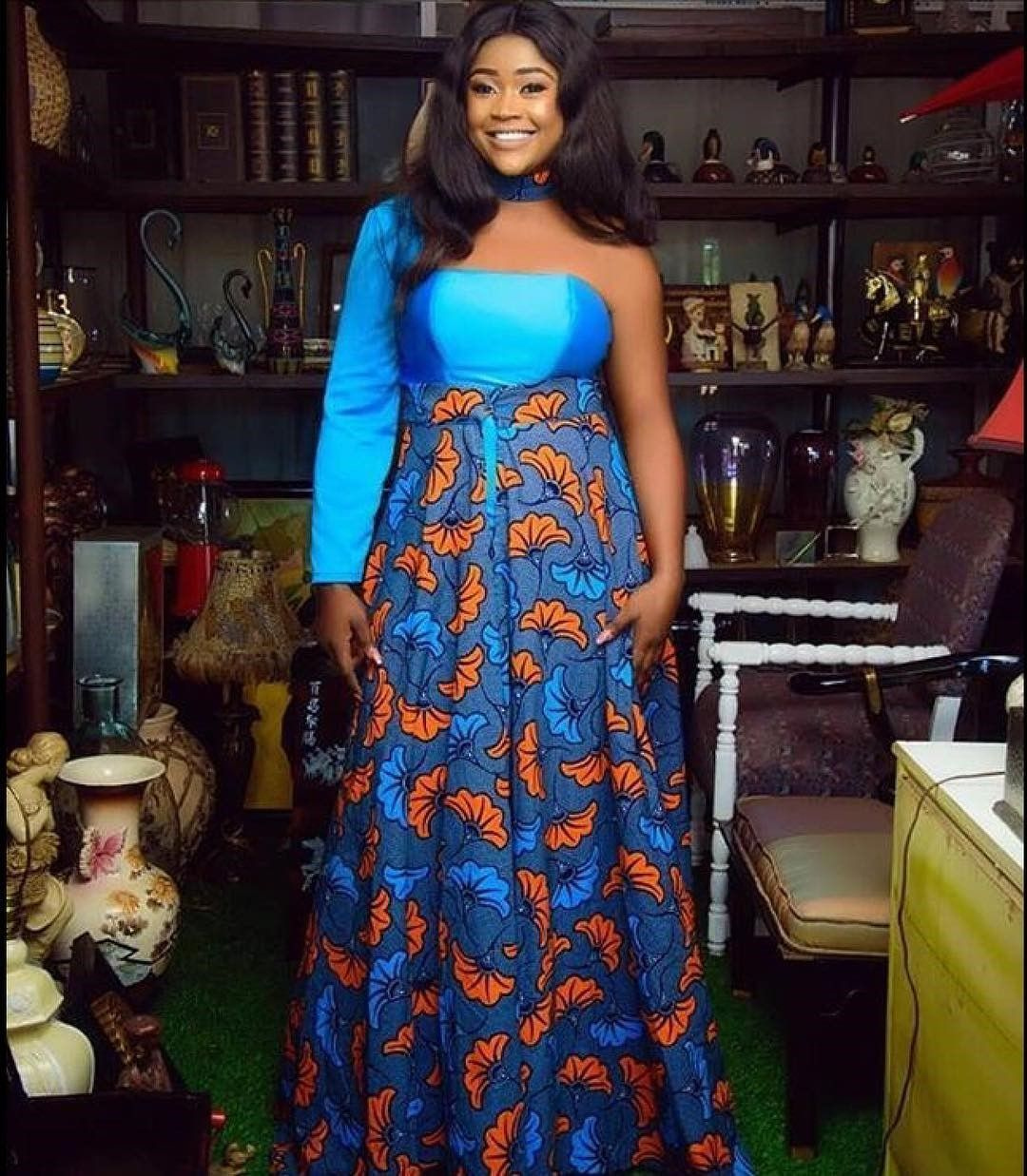 There are several ways to enable oneself look fabulous with an Ankara fabric, Even if you are reasoning on what to create and slay with an aso ebi style. Nigerian Yoruba dress styles for weddings arrive in a good many patterns and designs.   The Ankara dress styles beauty of this print is that it comes in many designs and textures. Ankara will permit you make a grant of any fabric without losing the Ankara dress styles flair. #nigeriandressstyles There are several ways to enable oneself look fab #nigeriandressstyles