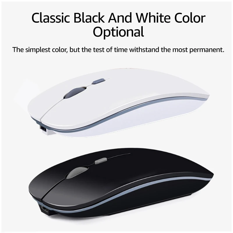 Black Color : Pink Computer Accessories 2.4Ghz Rechargeable Ergonomic Wireless Optical Mouse