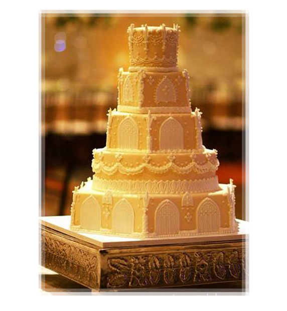 Yellow Renaissance Wedding Cake | wedding medieva | Pinterest ...