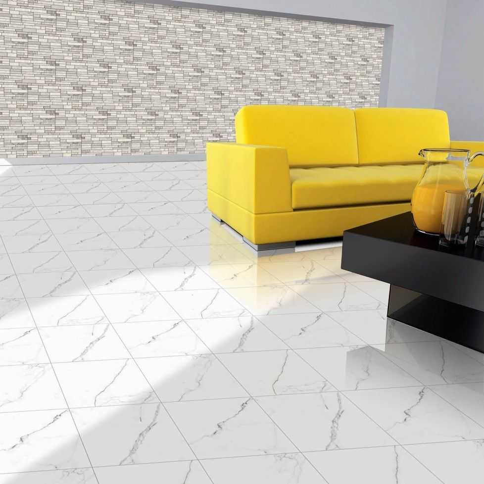 Download Modern Living Room With Yellow Leather Two Seat Sofa Glass ...