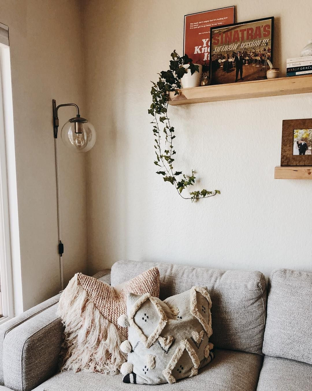 Kelseyalbright S Boho Livingroom Is Complete With Our Aquarius Light Grey Sofa Light Gray Sofas Living Spaces Furniture Home Decor