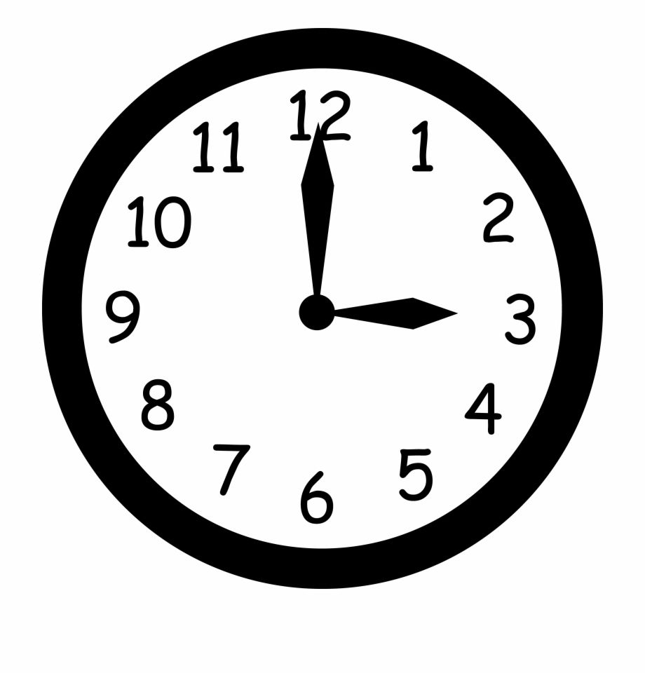 A Que Hora Es Telling At What Time Clock Clipart Free