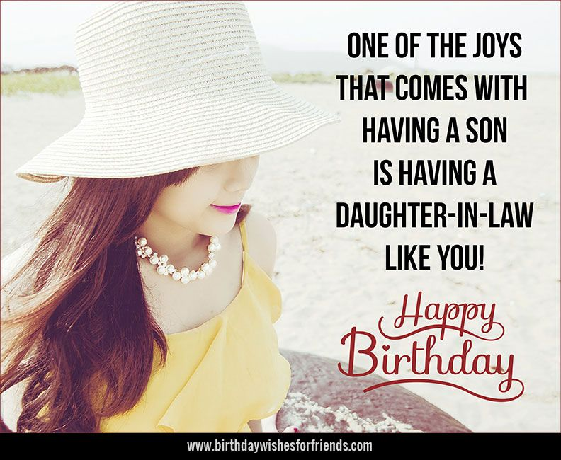 Daughter In Law Birthday Wishes Category Birthday Wishes For