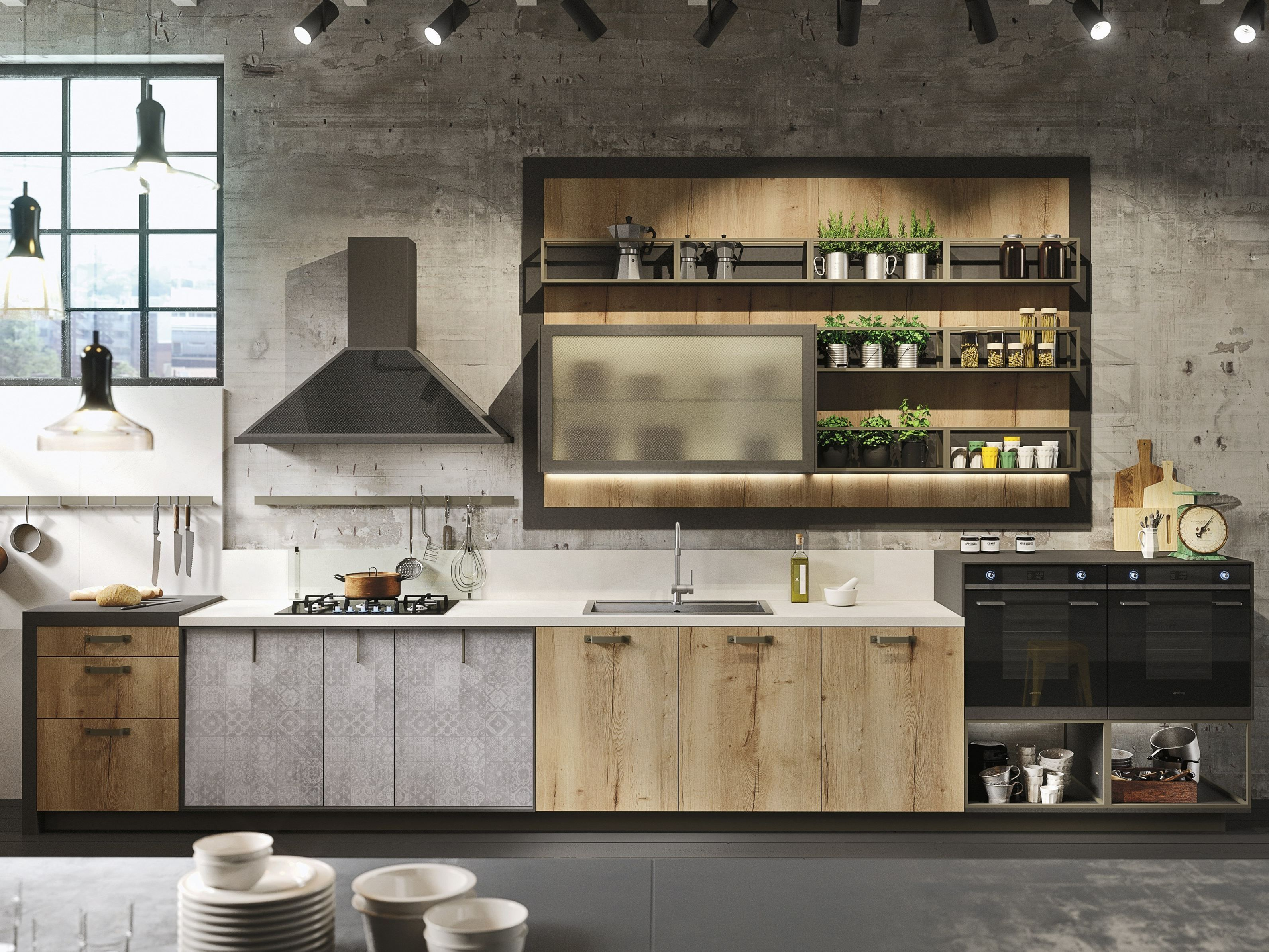 LOFT Cocina lineal Colección SISTEMA by Snaidero diseño Michele ...