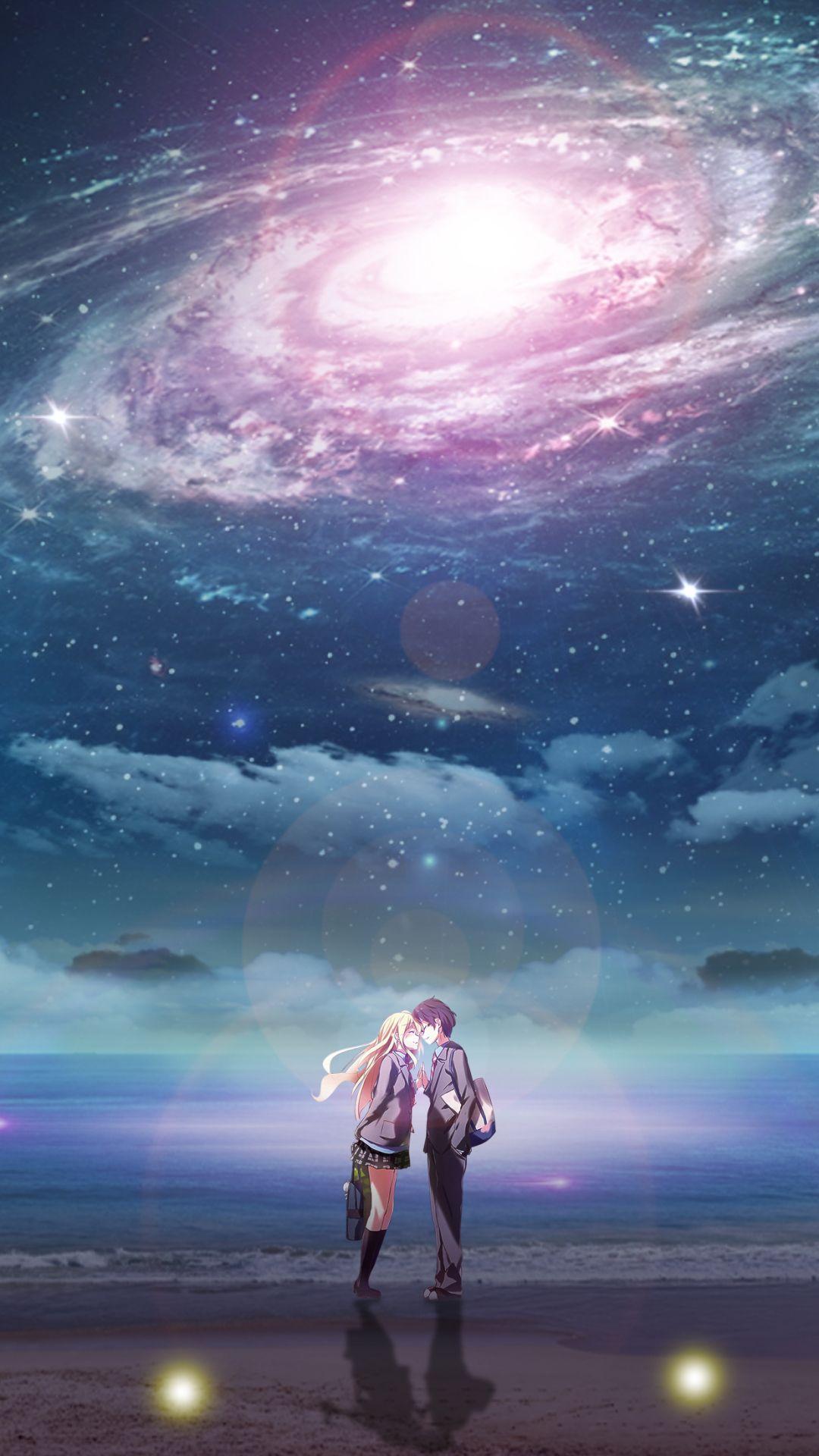 Download wallpaper anime shigatsu wa