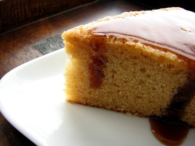 Rum Cake with Spiced Butter Rum Glaze