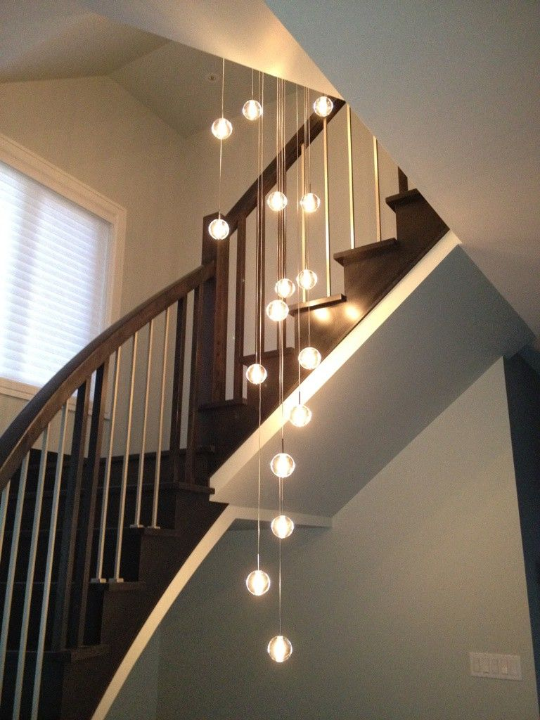 Bocci Style Chandelier How Can I Make This Staircase Chandelier Stairway Lighting Crystal Chandelier Lighting