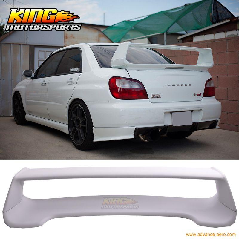 Fit For 02 07 Subaru Impreza Wrx Primer Grey Oe Style Trunk Spoiler Wing Abs Subaru Impreza Impreza Wrx