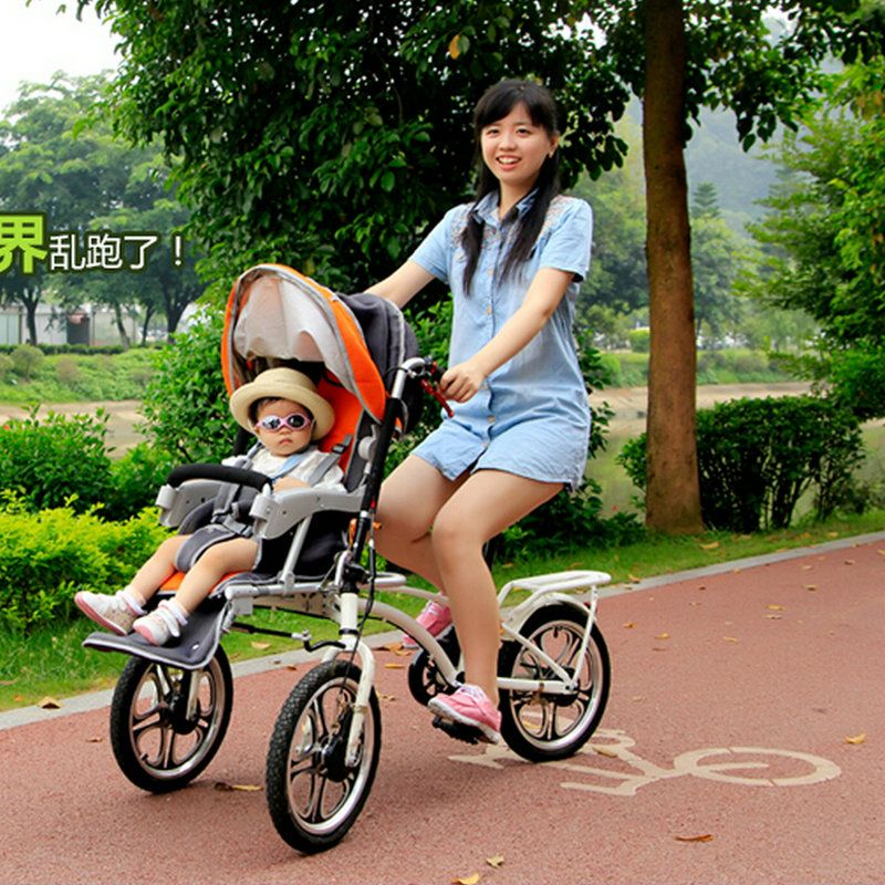 Yabby Bike Baby Bike Stroller Mother And Child Cart Double Bike