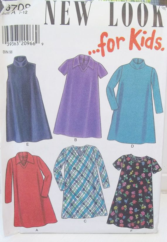 New Look Simplicity Girl\'s Dress Pattern 6 Styles by WitsEndDesign ...