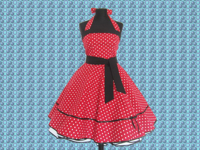 amelia 50er jahre kleid rockabella gepunktet von 50er. Black Bedroom Furniture Sets. Home Design Ideas