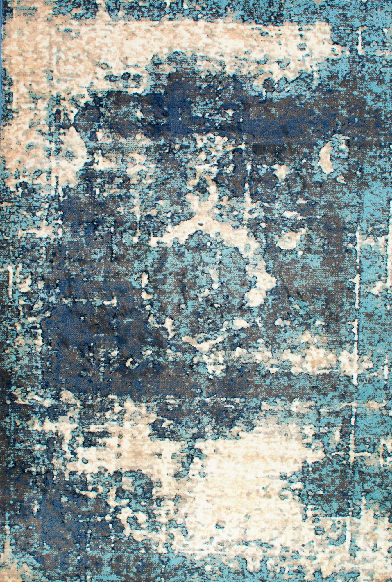 Tracce TC01 Distressed Foggy Medallion Rug | The River House ...