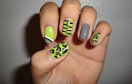 Pin by kaybree blake on books worth reading pinterest short cool neon green and grey animal print nails solutioingenieria Choice Image