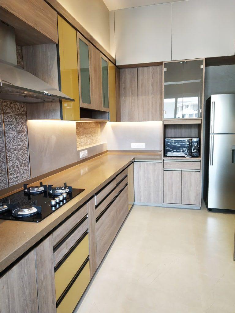 The sunny kitchen ar. aishani kumbhani built-in ki