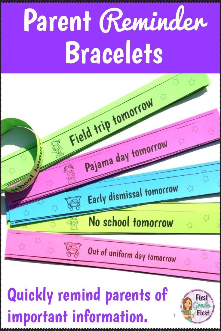 Parent Reminder Bracelets in English and Spanish Parents