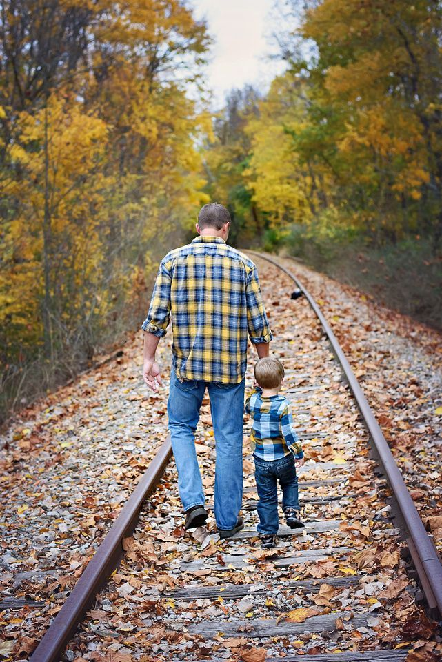 Image result for fall family photo railroad tracks