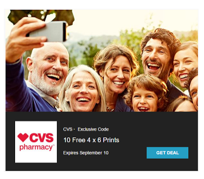 Get 10 free 4x6 photo prints from CVS with app download!