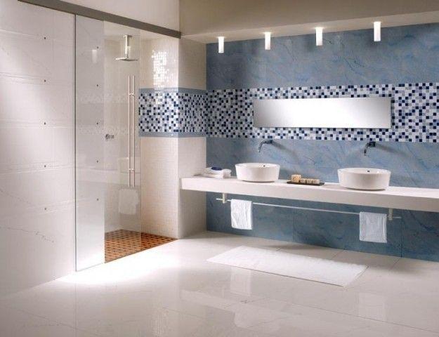 Ba o con mosaico en azul Baños Pinterest Baños, Baño y Cuarto - baos con mosaicos