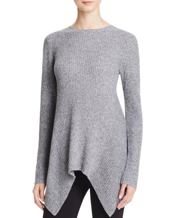 Aqua Cashmere Womens Cashmere Knit Casual Top