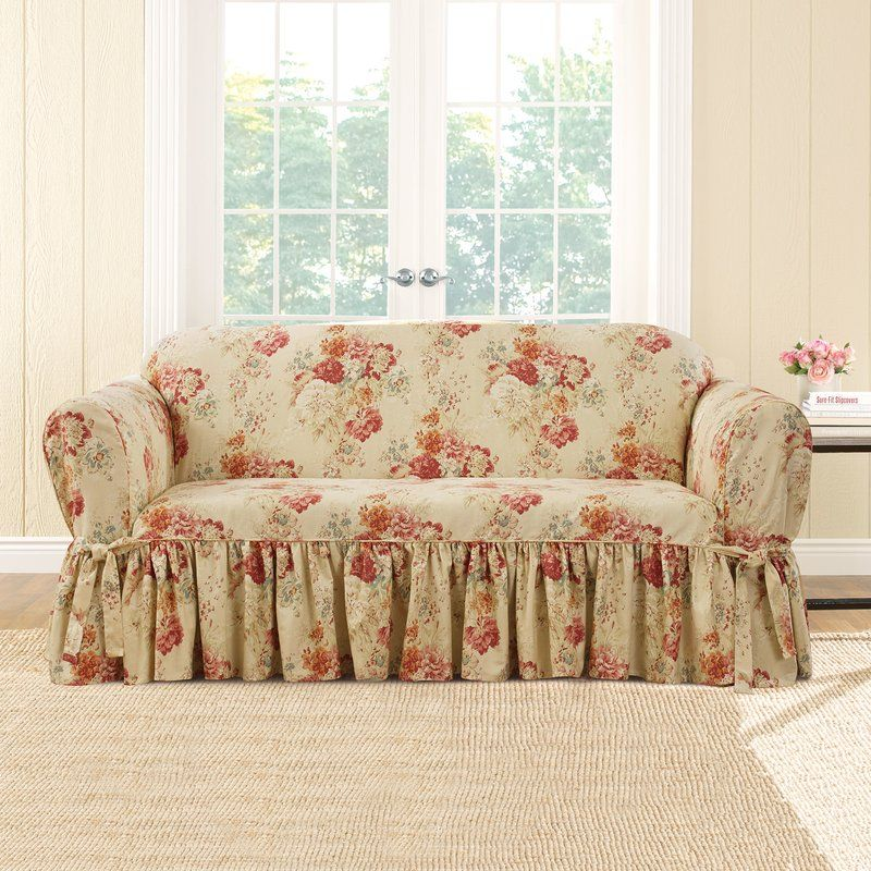Ballad Box Cushion Loveseat Slipcover Slipcovers For Chairs