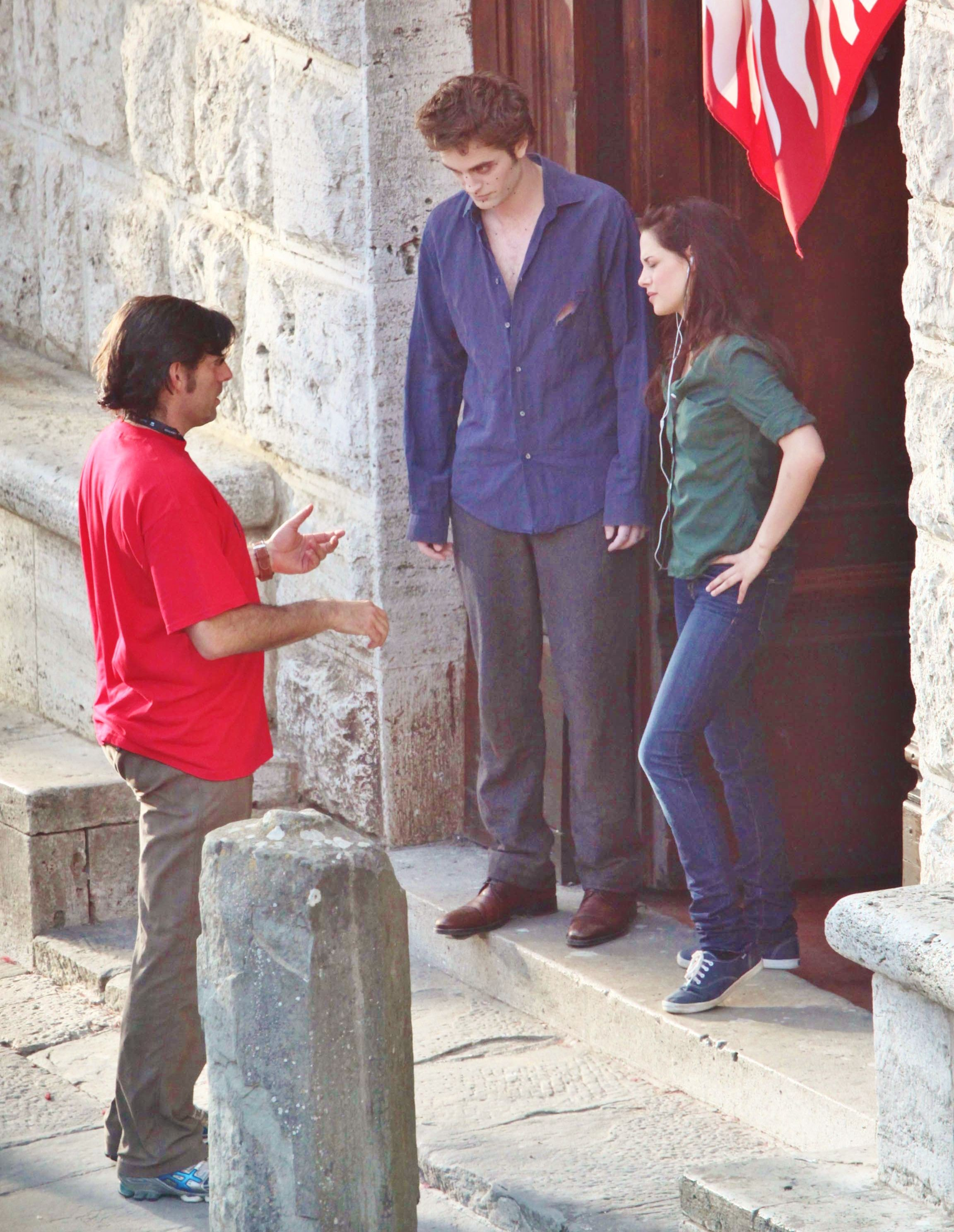 New Moon Rob & Kris during filming in Italy with