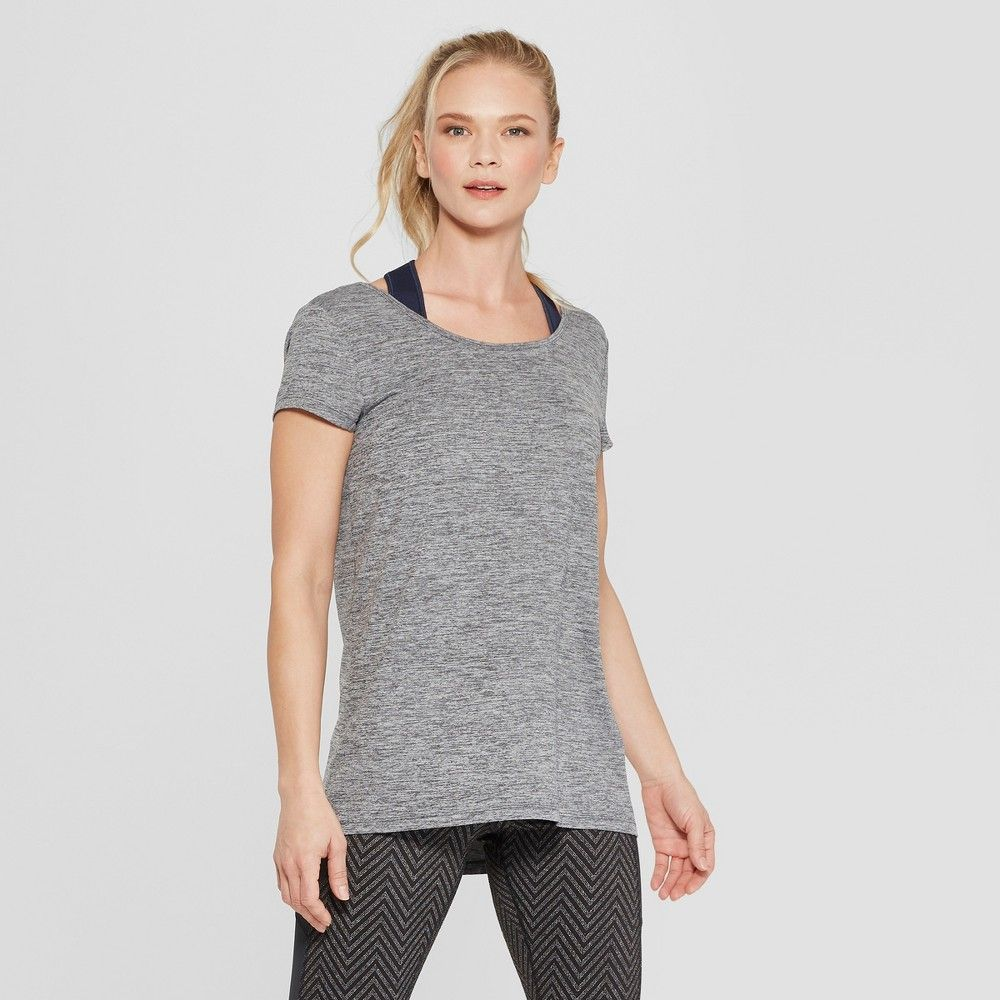 1c087482 Women's Active T-Shirt - C9 Champion Black Heather XS Gender: Female. Age  Group: Adult. Pattern: Solid. Material: Polyester.. Women's Active T-Shirt  - C9 ...