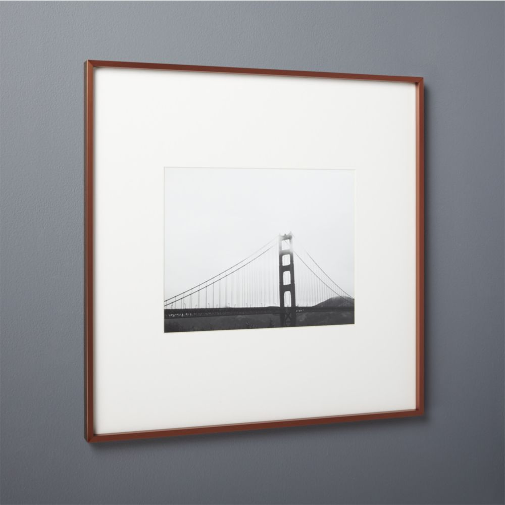 gallery copper 11x14 picture frame with white mat   Products ...