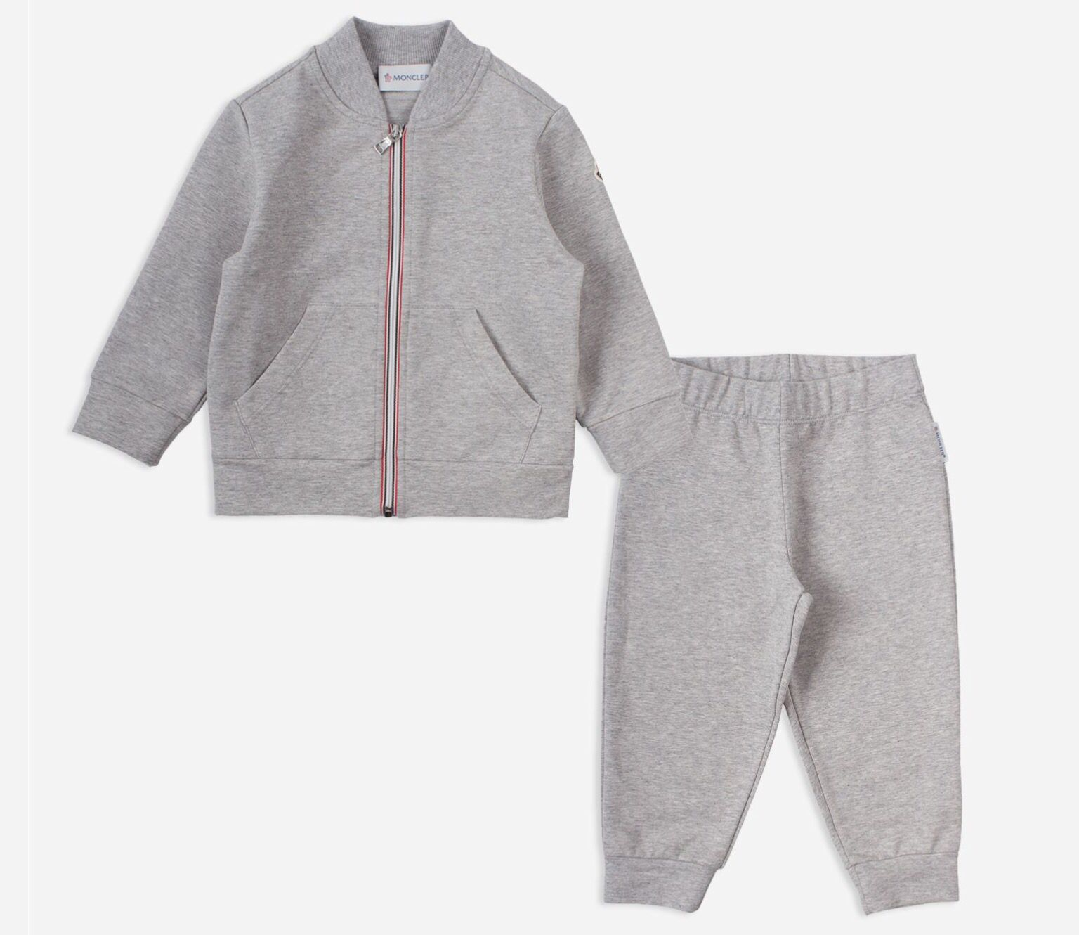 baby grey moncler tracksuit