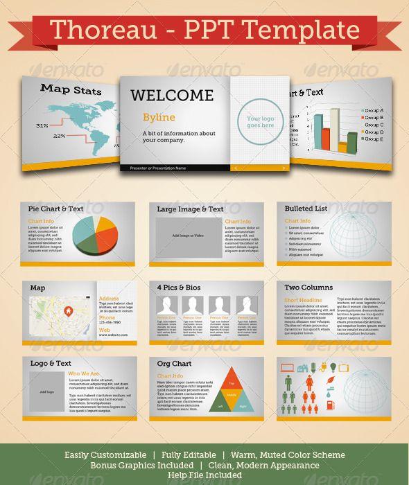 Thoreau - Modern Powerpoint Template Template and Presentation - powerpoint brochure template