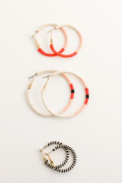 403ea8c6a Embroidery Thread Wrapped Hoop Earrings–a Finish Fifty Project ...