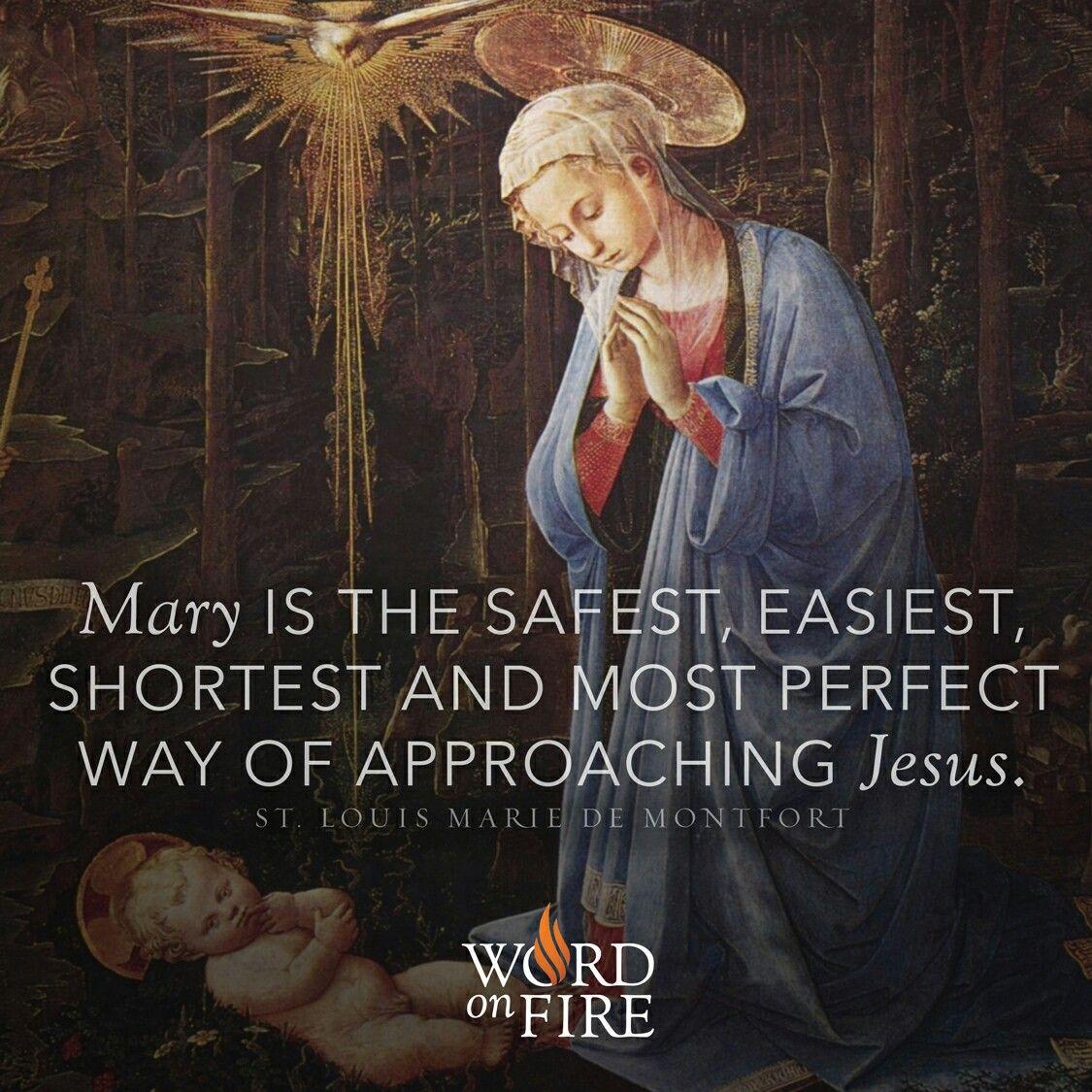 St. Louis Marie De Montfort Blessed mother, Catholic