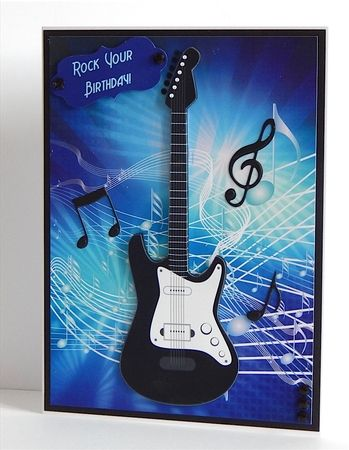 Great Guitar Card Topper On Craftsuprint