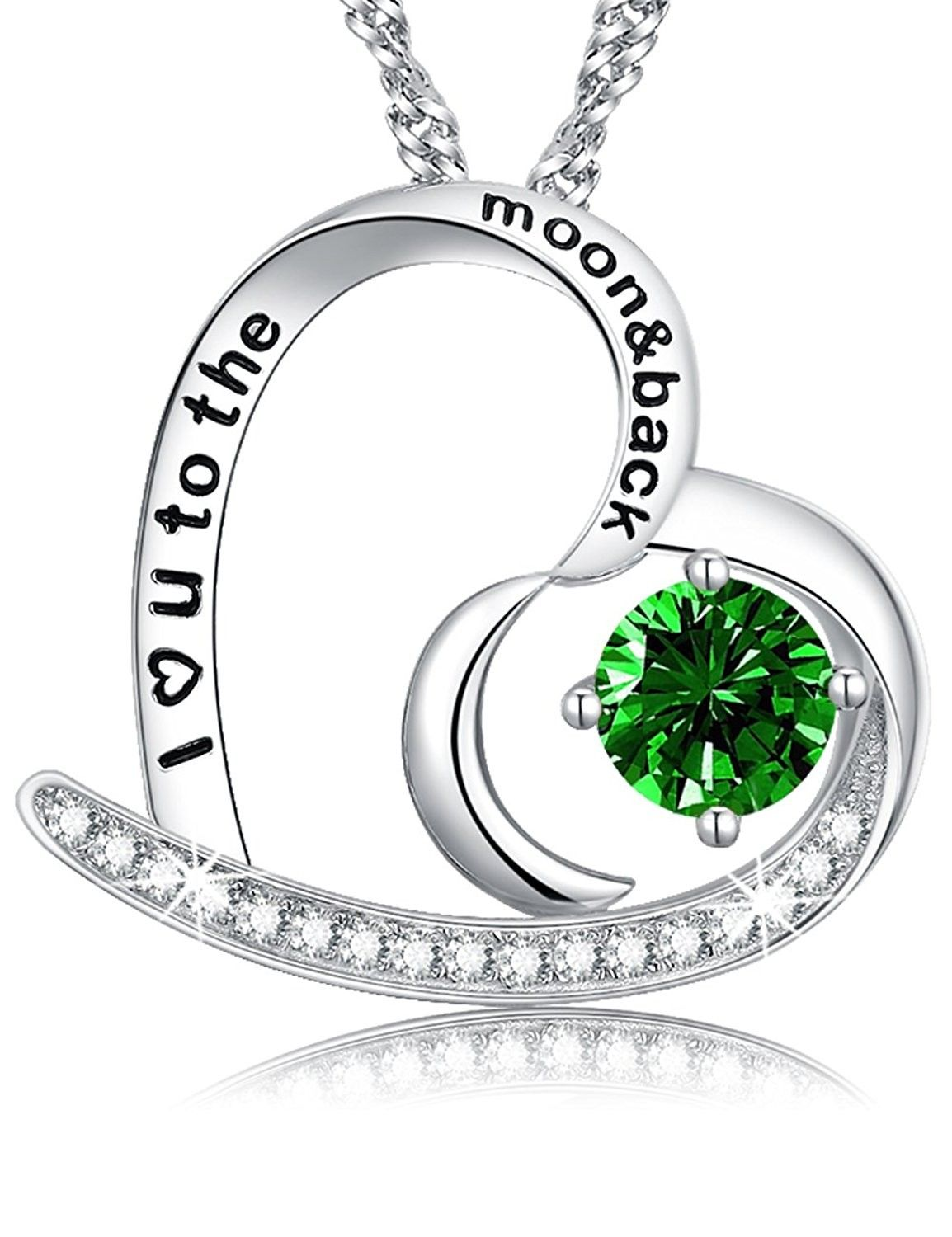 Anniversary Mothers Day Gift for her mom Jewelry Green