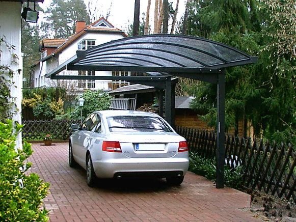 Fine german engineering for a carport garages and for Carport metall glasdach